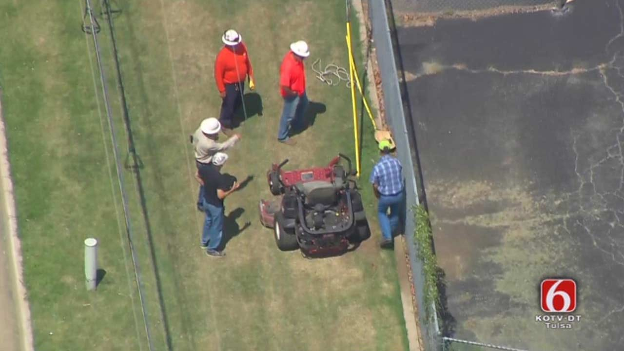 Man Shocked After Hitting Power Line While Mowing In Tulsa