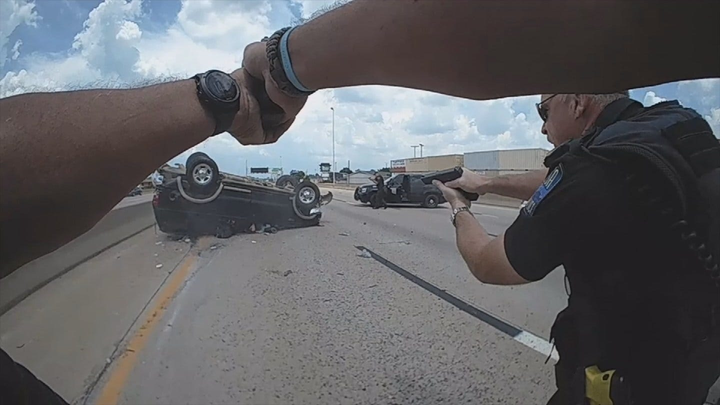 Body Cam Shows Arrest Of Tulsa Bank Robbery Suspect After Dramatic Chase