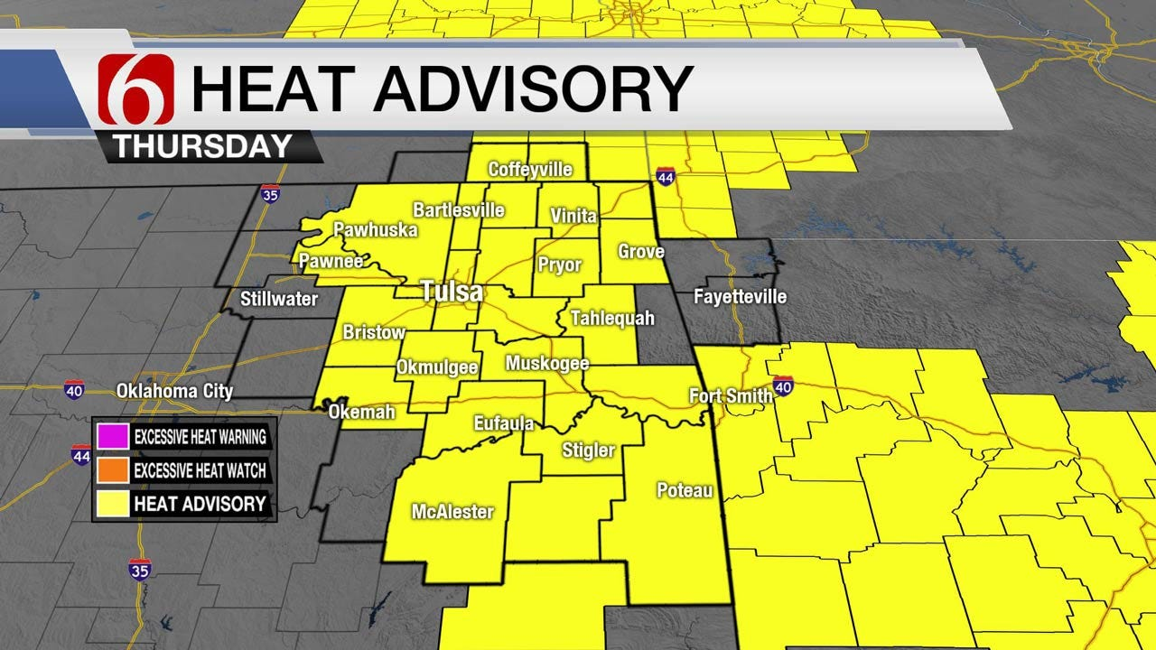 Heat Advisories For Eastern Oklahoma