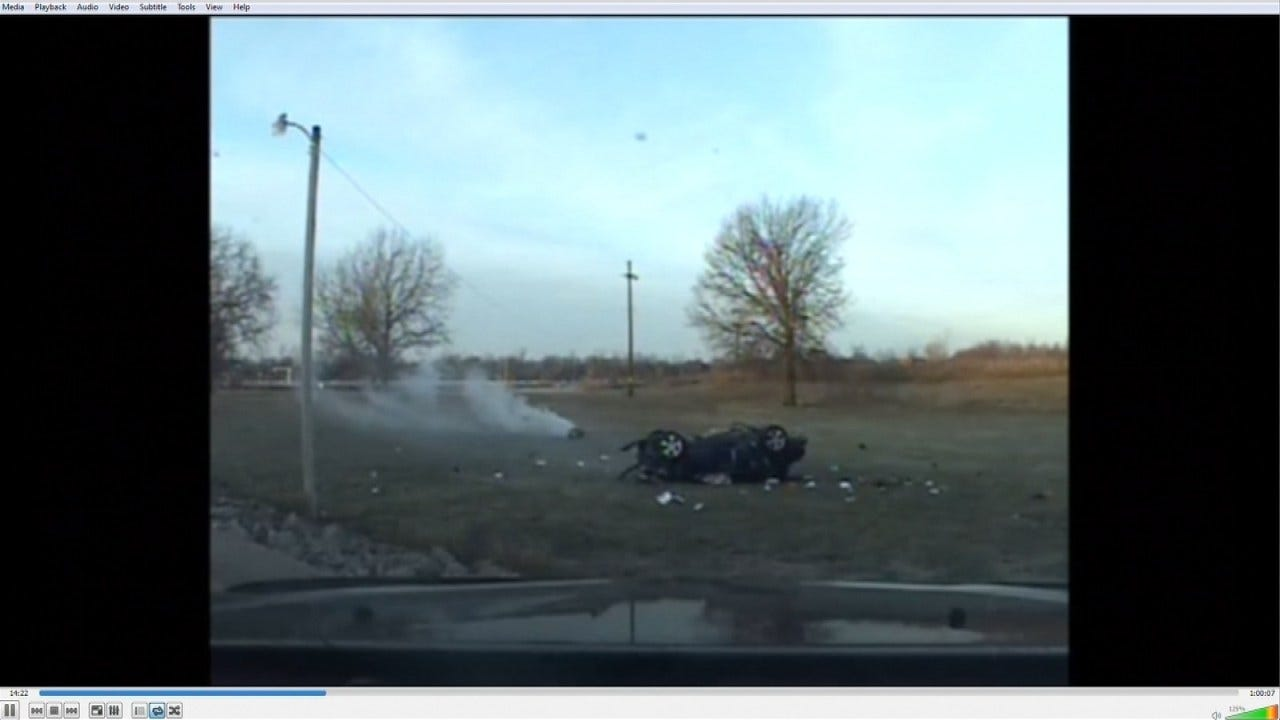 OHP: Dashcam Video Shows Moments After 7-Year-Old Crashed Stolen Car