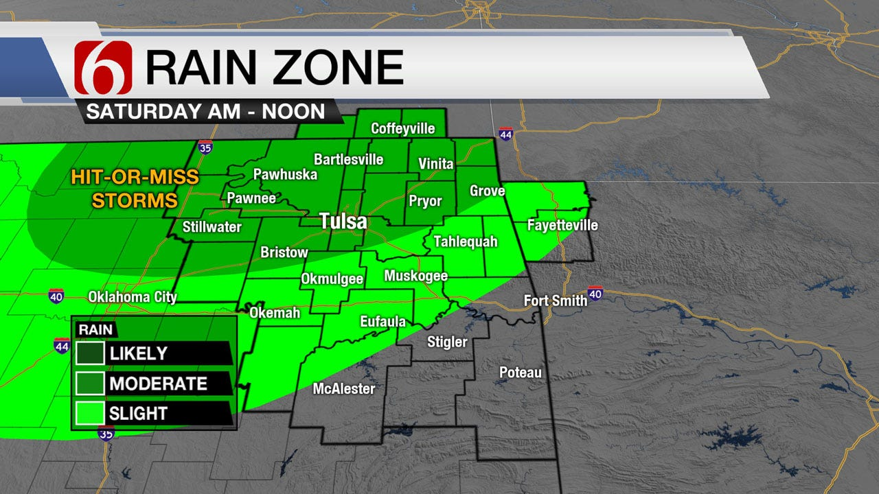 Showers And Summer Heat For Green Country This Weekend