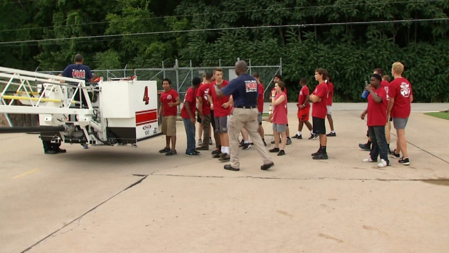 TFD Hosts Fire Camp for Tulsa Teens