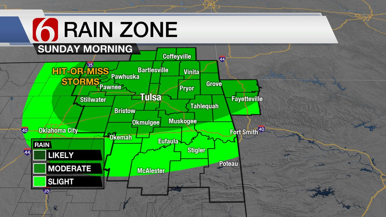 Stormy And Steamy Sunday Across Green Country