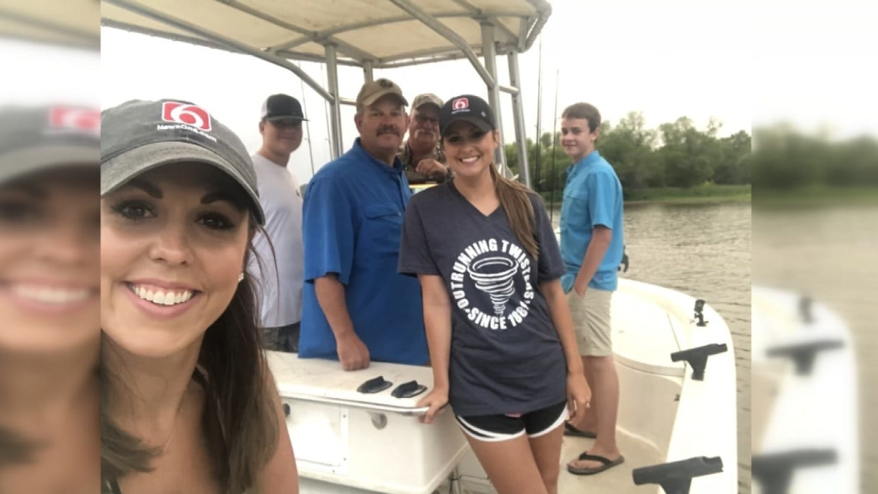 'Gone Fishin' Winner Enjoys Day Of Fishing With Tess Maune, Lacey Swope