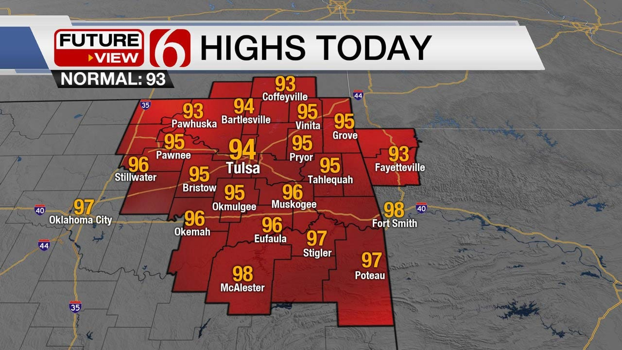 Muggy, Storm Chances Remain Across Oklahoma
