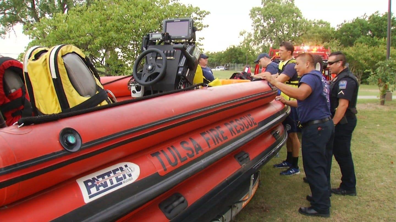 Two Men Rescued After Rising Water Traps Them On Arkansas River Sandbar