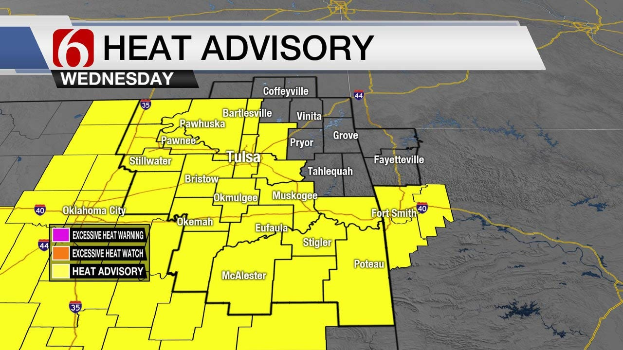 Another Heat Advisory For Parts Of Eastern Oklahoma