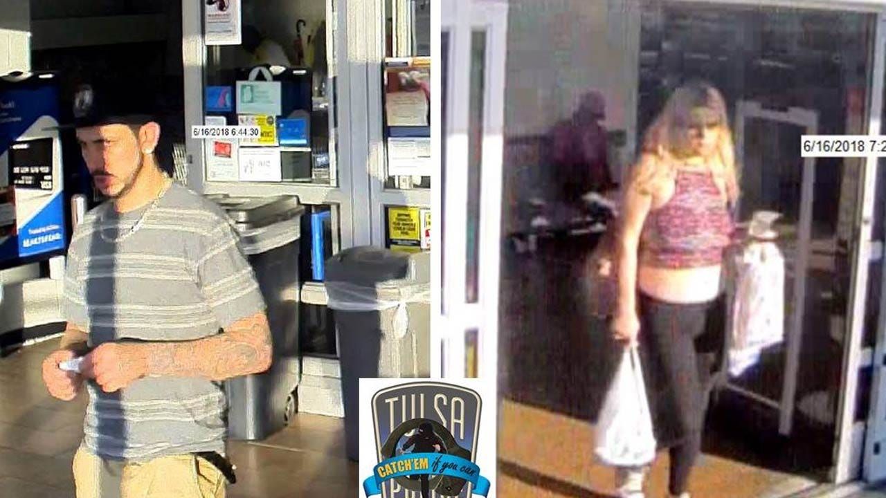 Tulsa Police Look To ID Two For Using Stolen Credit Card
