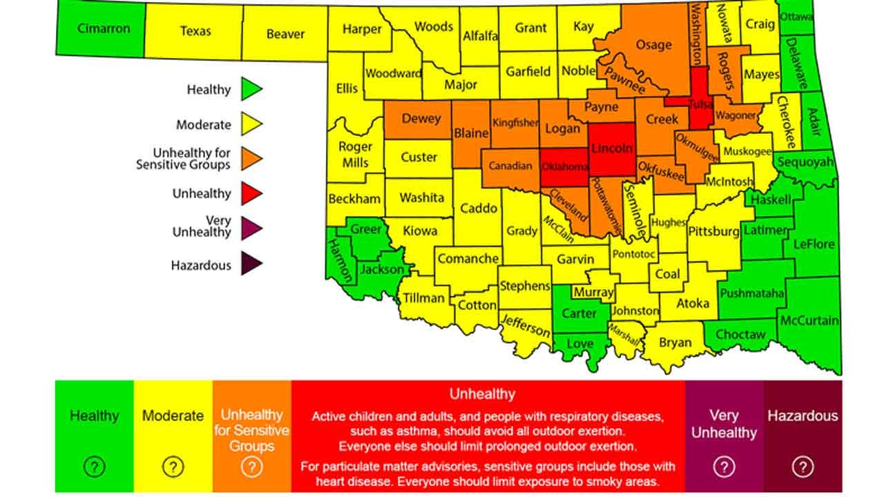 Heat, Ozone Alerts Issued For Tulsa