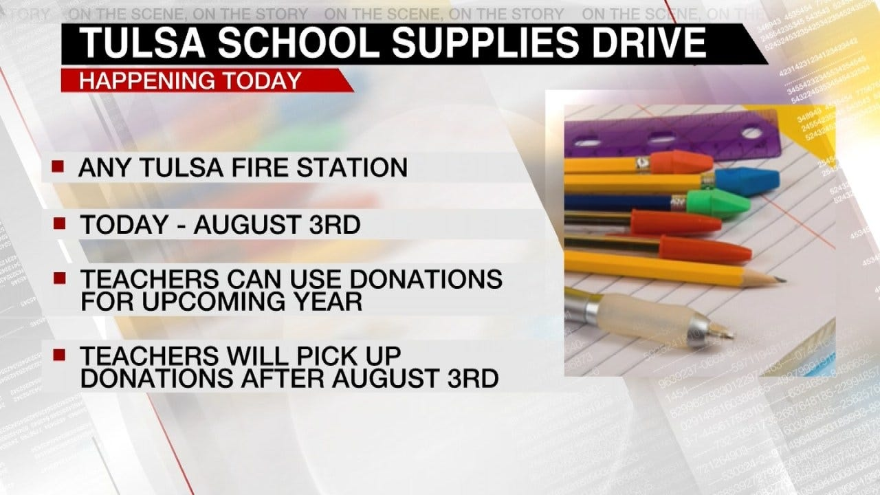 Collecting Tulsa Back To School Supplies