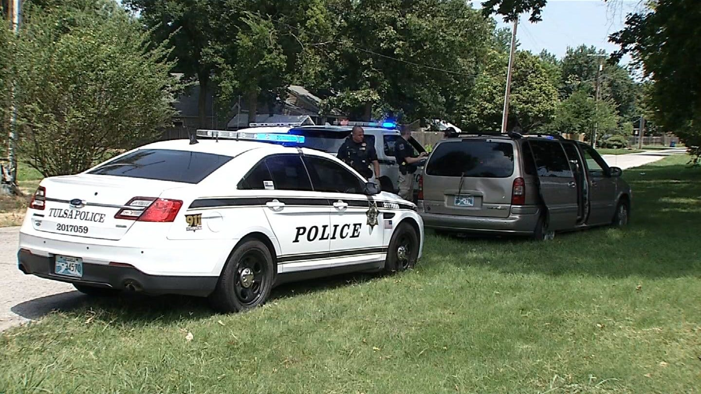 Three Arrested, Stolen Vehicle Recovered After Police Chase Through Tulsa Neighborhood