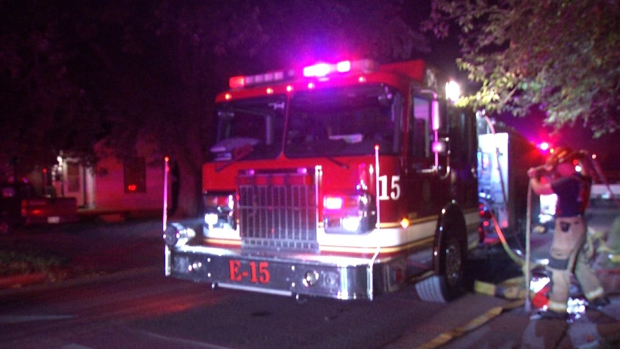 Two Residents Escape Burning Tulsa Home Uninjured