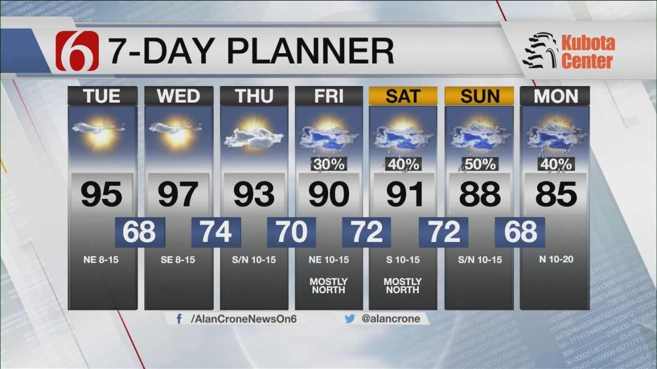Oklahoma Rain Chances Increase By Week's End