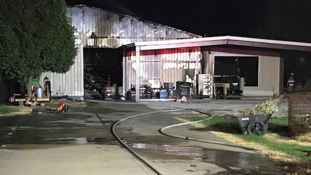 Airplane Destroyed In Rogers County Hangar Fire