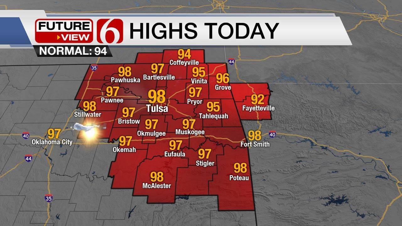 Sunny & Hot Wednesday Across Oklahoma