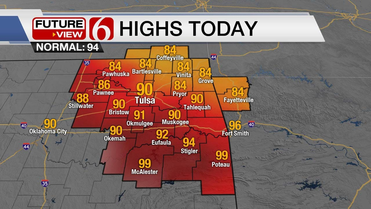Showers, Front Push Across Northeast Oklahoma