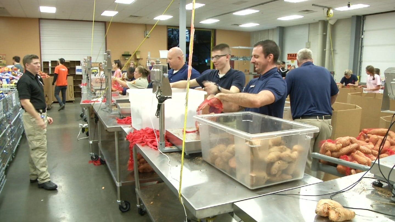 TCSO Cadets Volunteer At Community Food Bank