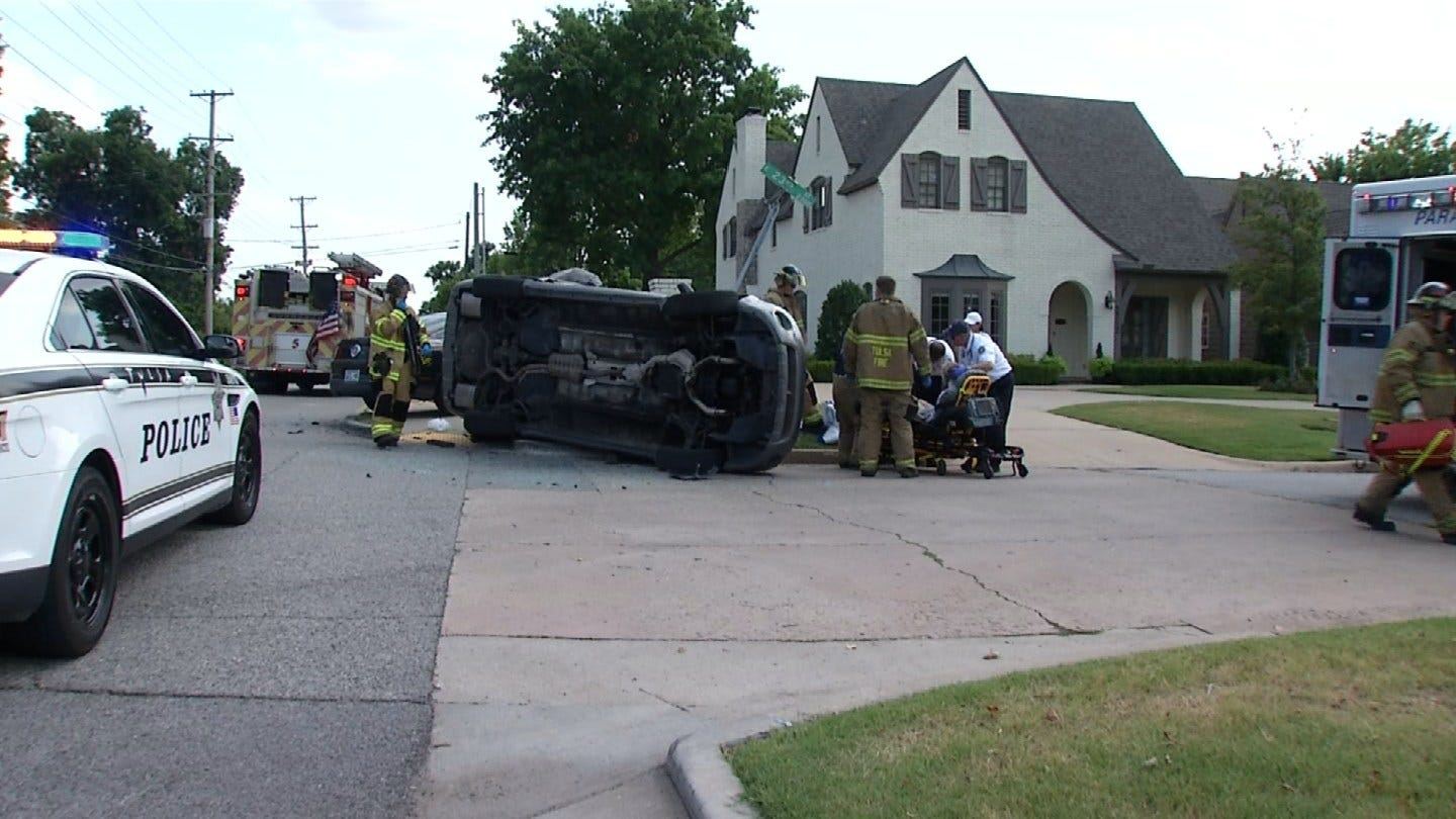 TPD: 83-Year-Old Woman Injured In Two Vehicle Crash