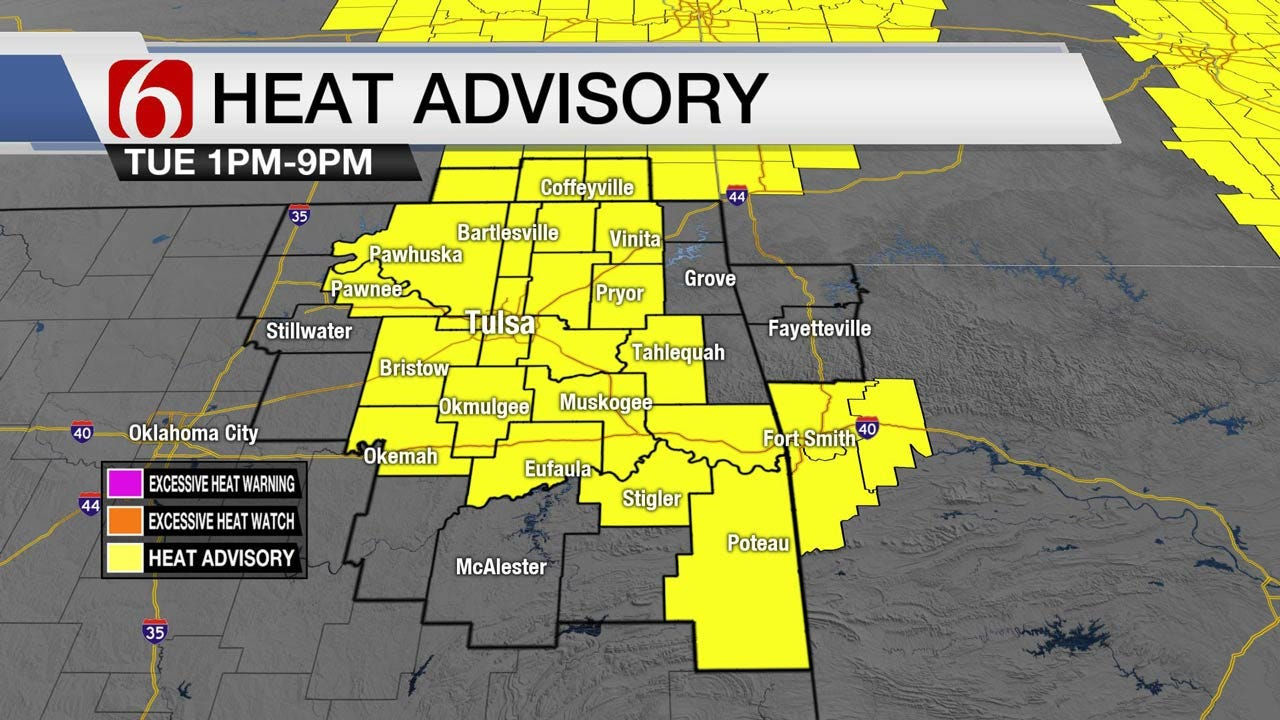 Heat Advisory For Eastern Oklahoma Continues