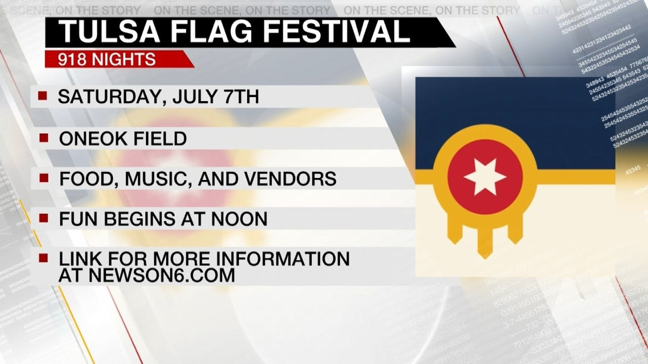 Preview Of Tulsa Flag Festival On Saturday, July 7th