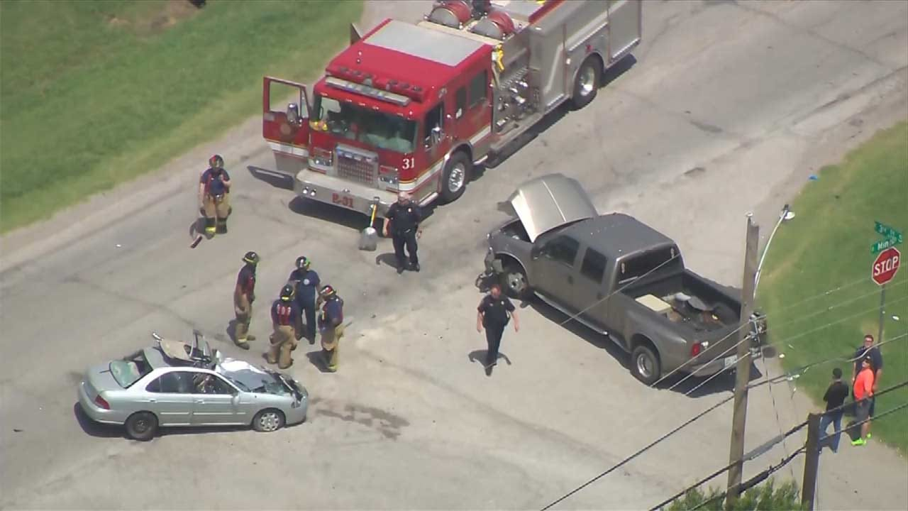 Woman Recovering After Being Cut Out Of Car Following Tulsa Wreck