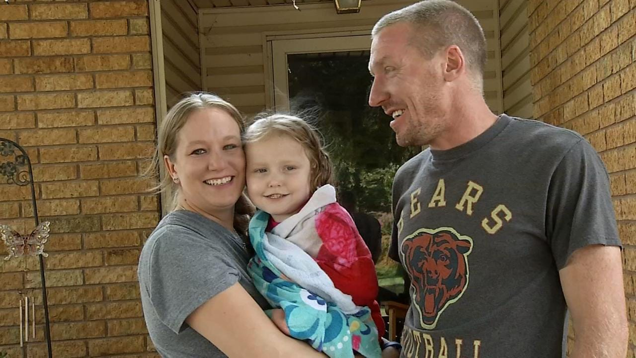 Glenpool Family Still Fighting To Find Cure For 3-Year-Old Girl's Inoperable Brain Tumor