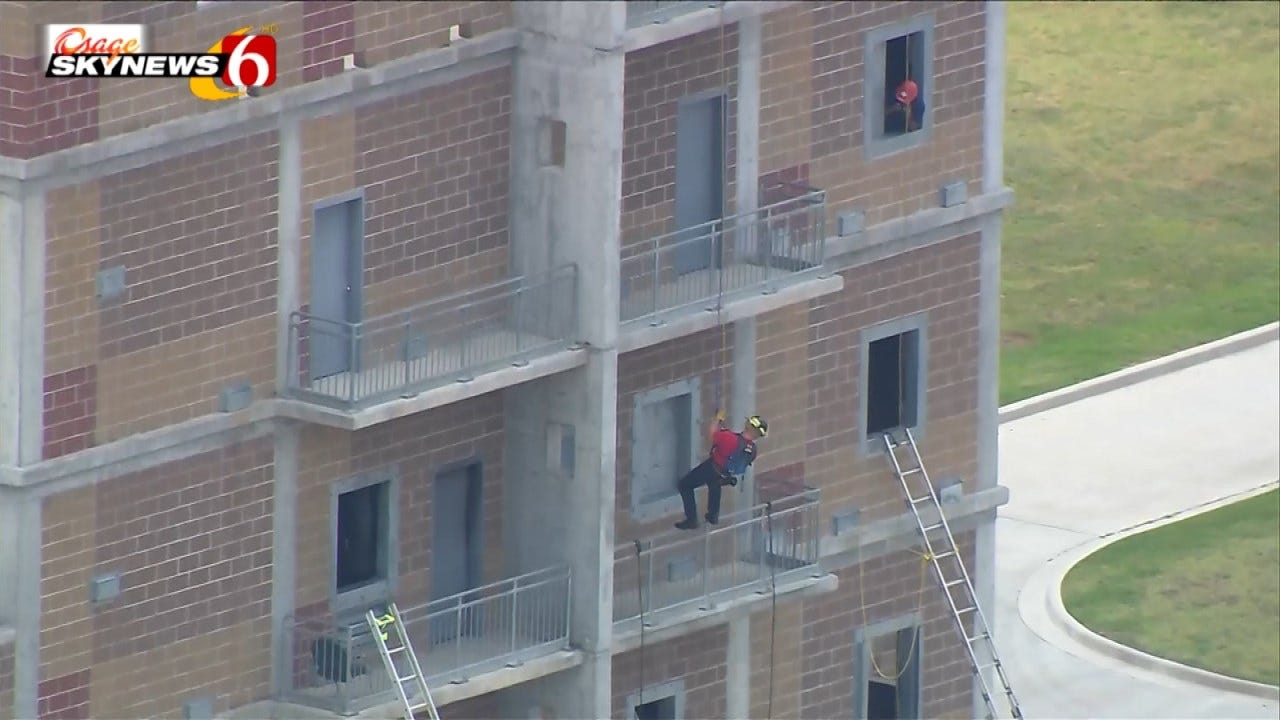 Tulsa Fire Cadets Learn High Rise Rescue Skills