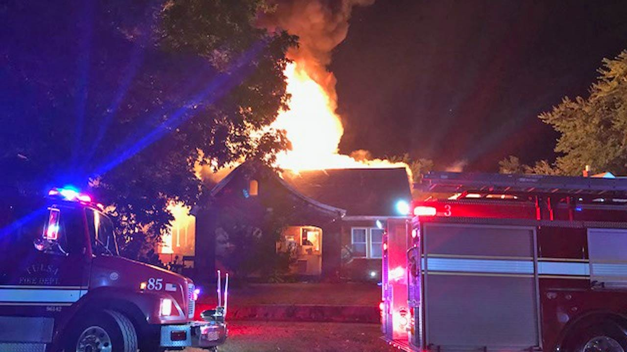 Vacant Tulsa Home Destroyed In Fire