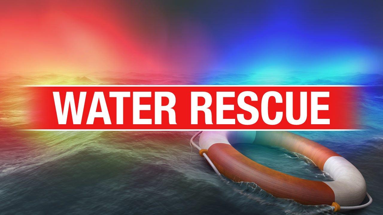 Water Rescue At Lake Oologah