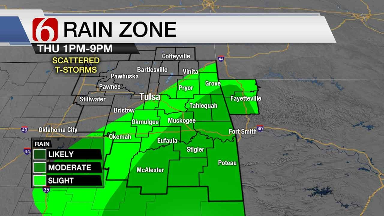 Scattered Showers Expected For Some Oklahomans