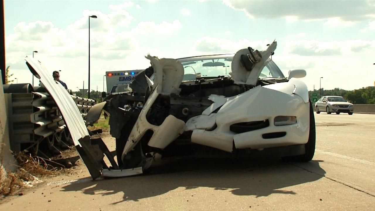 Tulsa Police: Driver Over Accelerates, Crashes 1998 Corvette