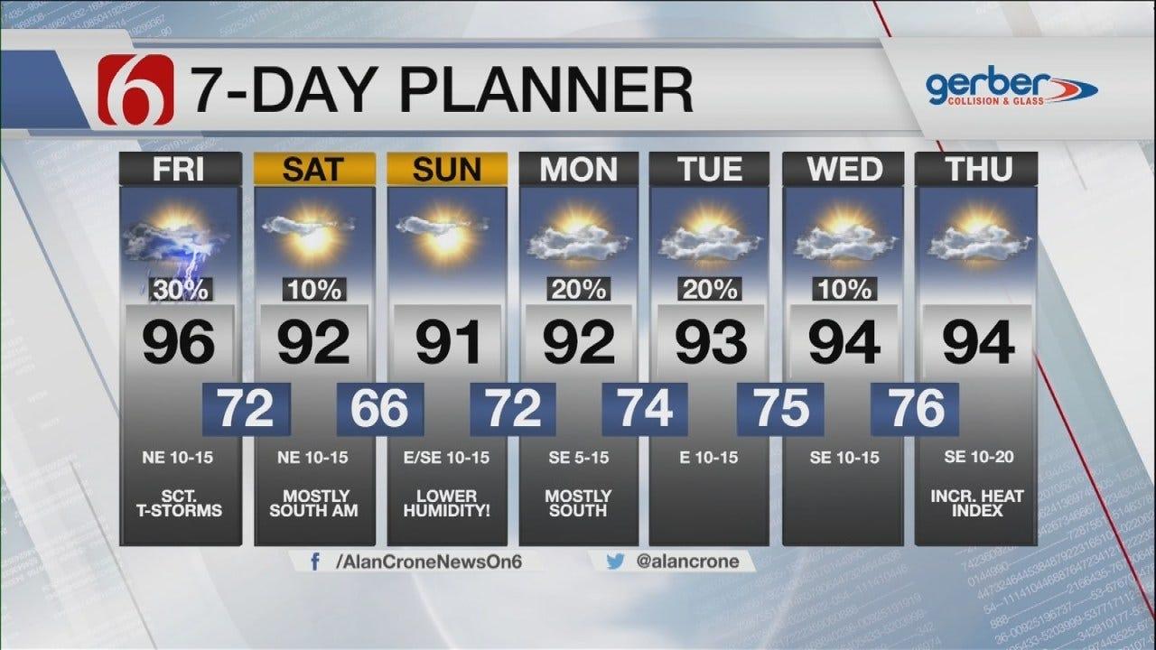 Friday Storms Ahead Of Pleasant Eastern Oklahoma Weekend