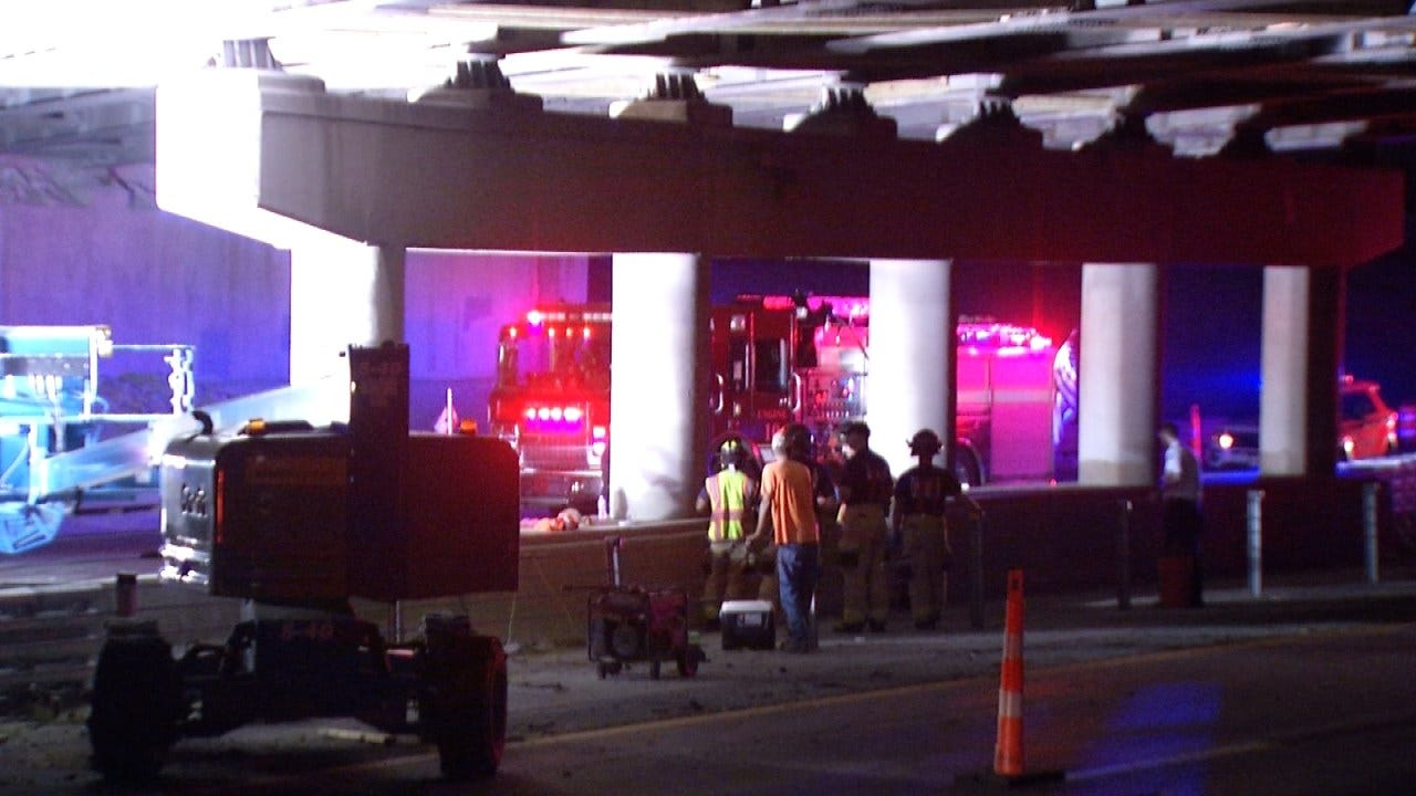 Police: Two Men Working Under Tulsa Highway Bridge Injured