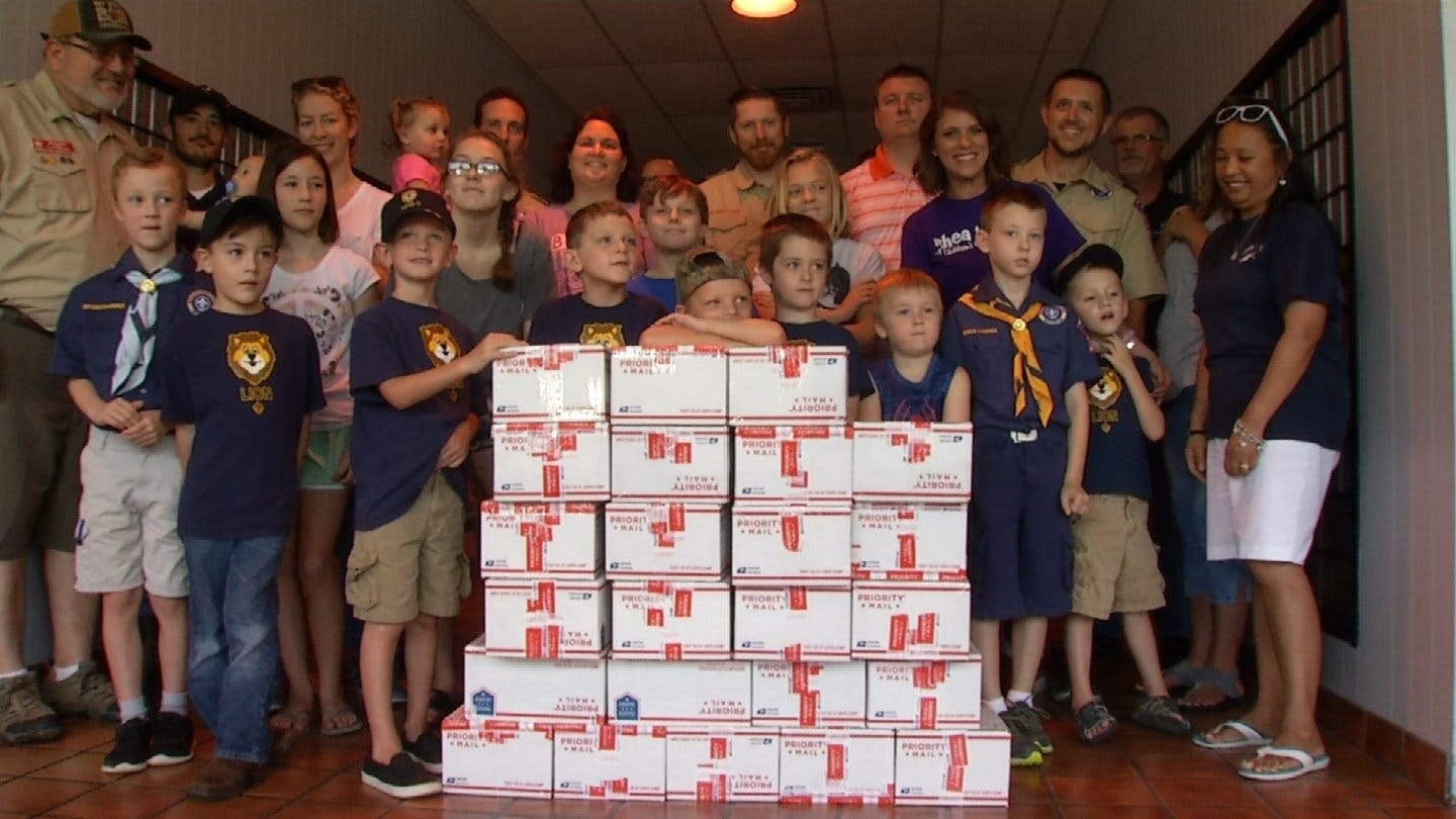 Claremore Cub Scout Pack Gives Back To Oklahoma Troops
