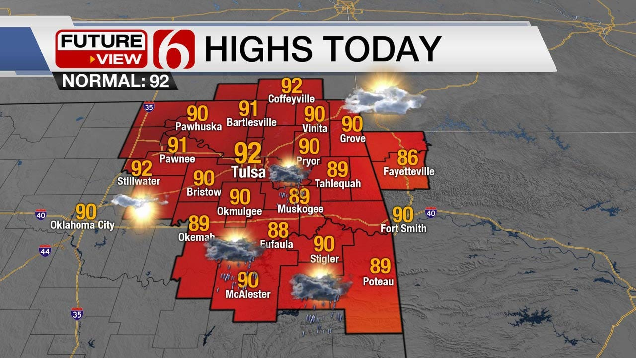 Increasing Humidity, Some Storms Ahead For Eastern Oklahoma