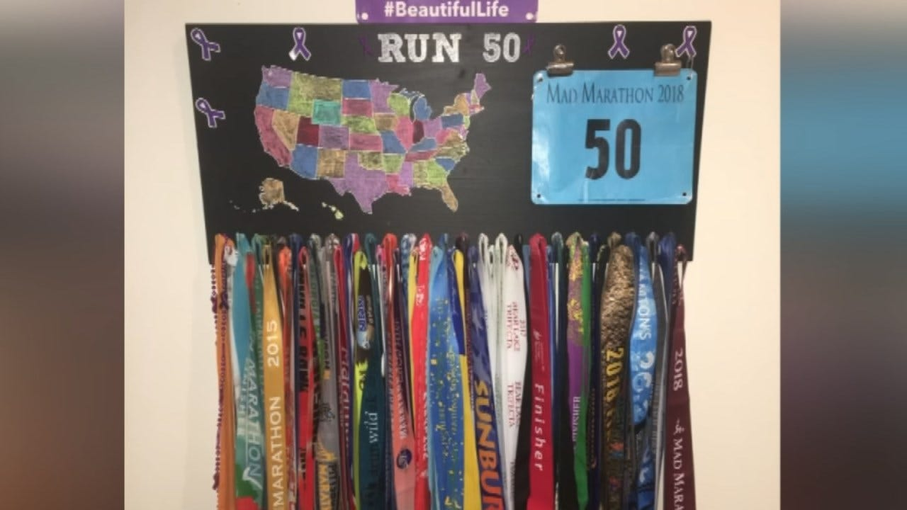 Tulsa Woman Runs Marathons In All 50 States To Raise Domestic Violence Awareness