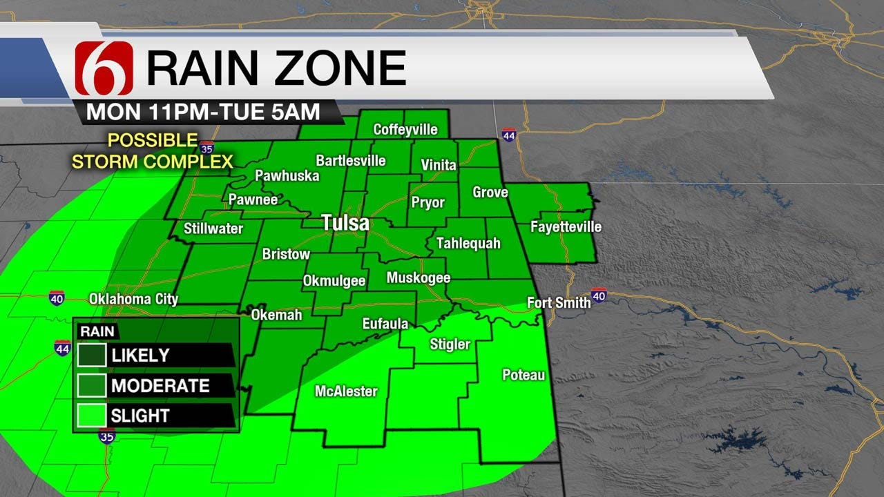 Increasing Chance Of Storms For Eastern Oklahoma