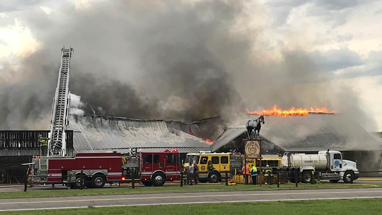 Firefighters Battle Fire At Bartlesville's Yocham's Custom Leather