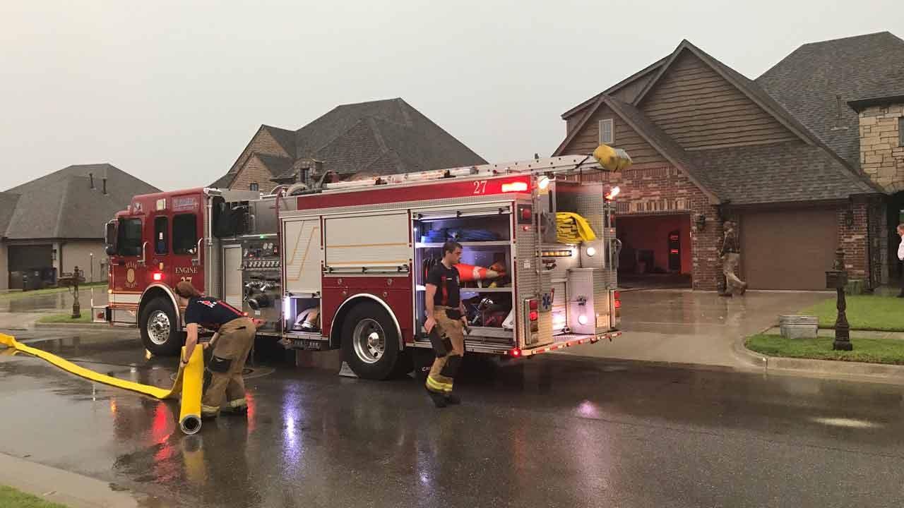 Lightning Strike Sparks Tulsa House Fire