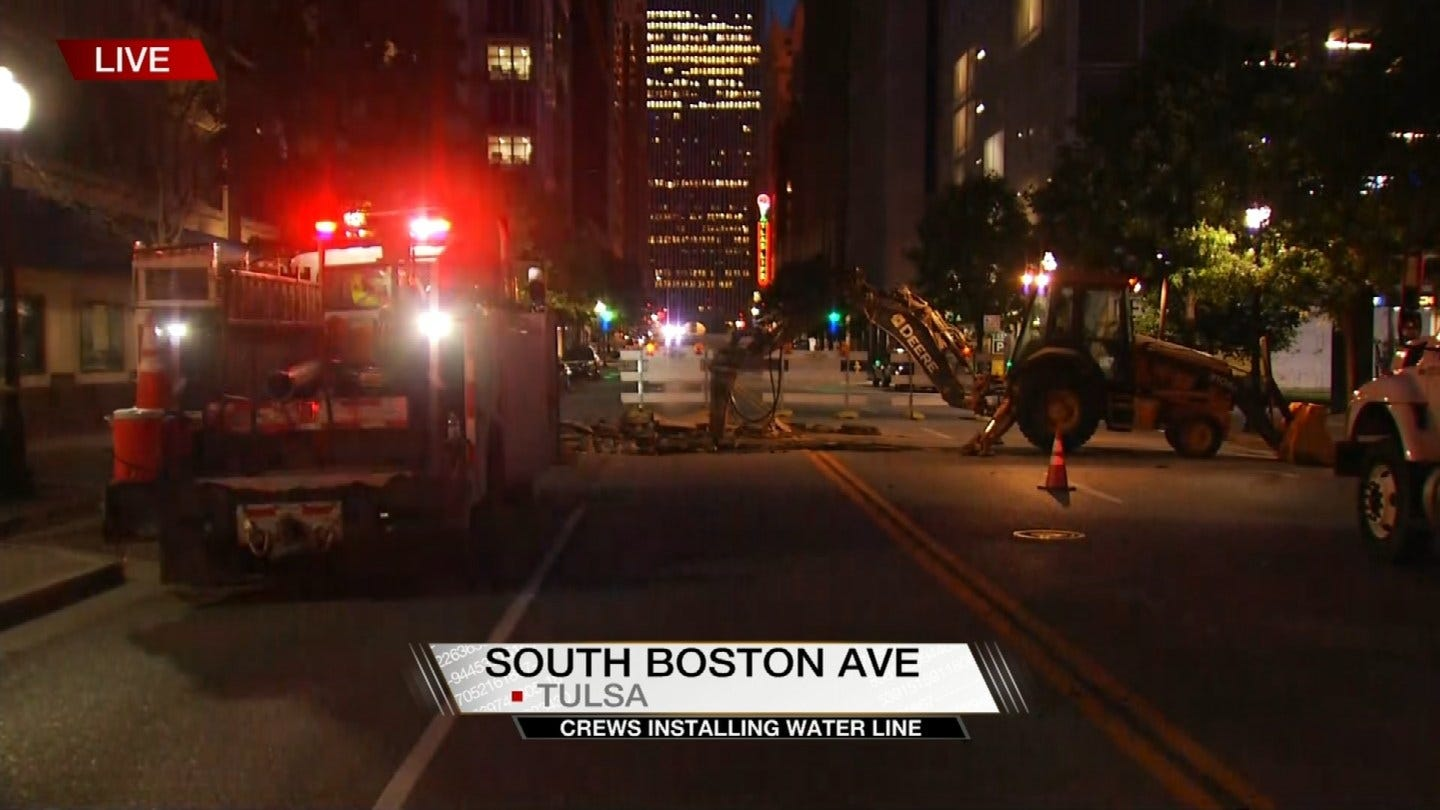 Some Downtown Streets Closed While Water Line Is Installed