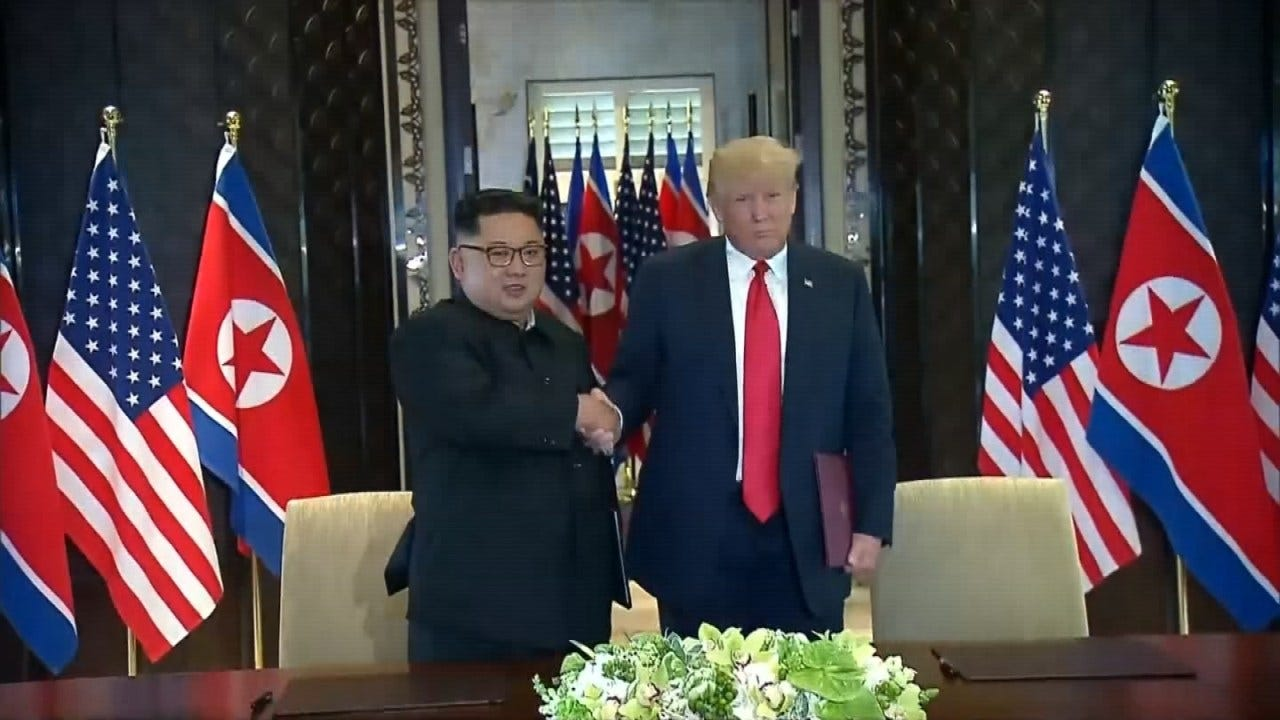 Trump Says 'War Games' Are 'Inappropriate' After North Korea Summit