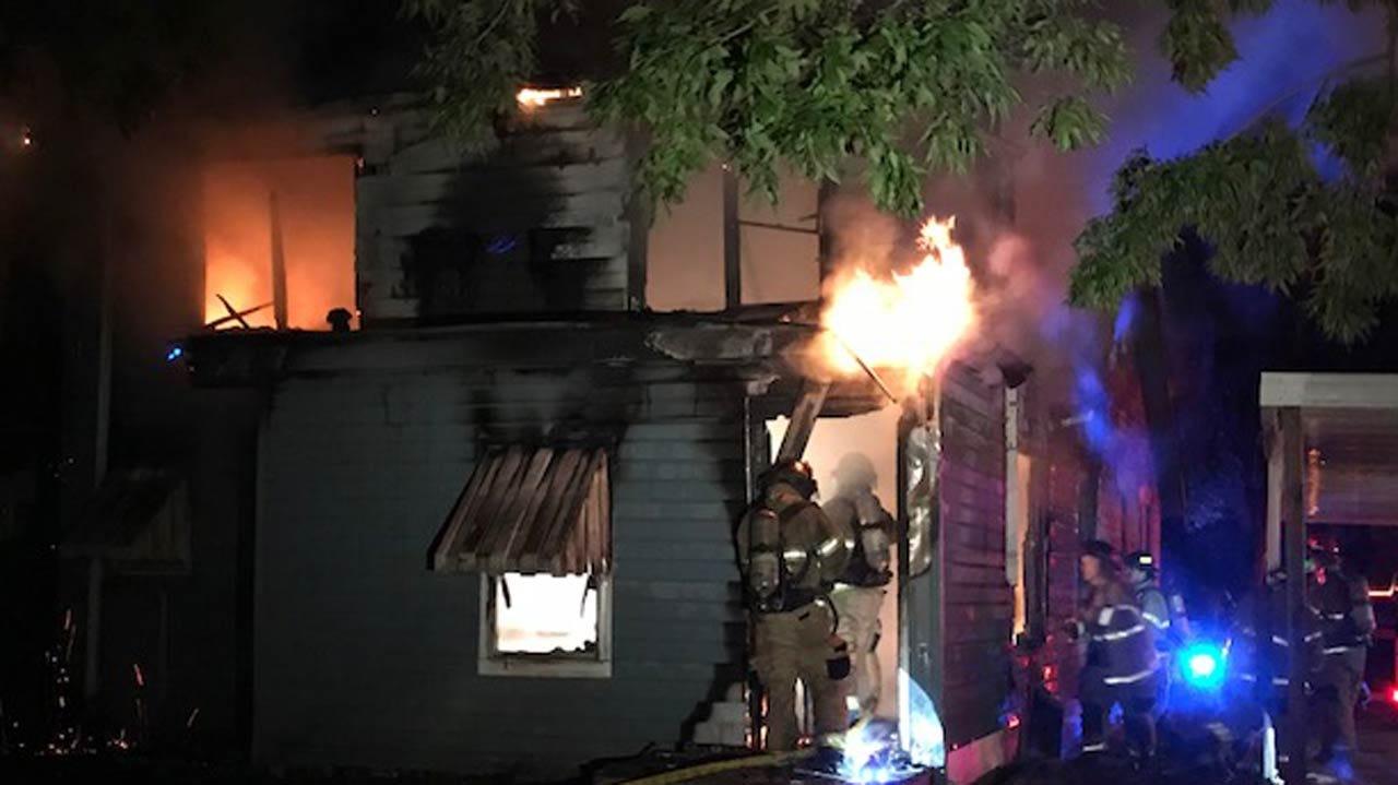 Fire Destroys Abandoned Tulsa Home