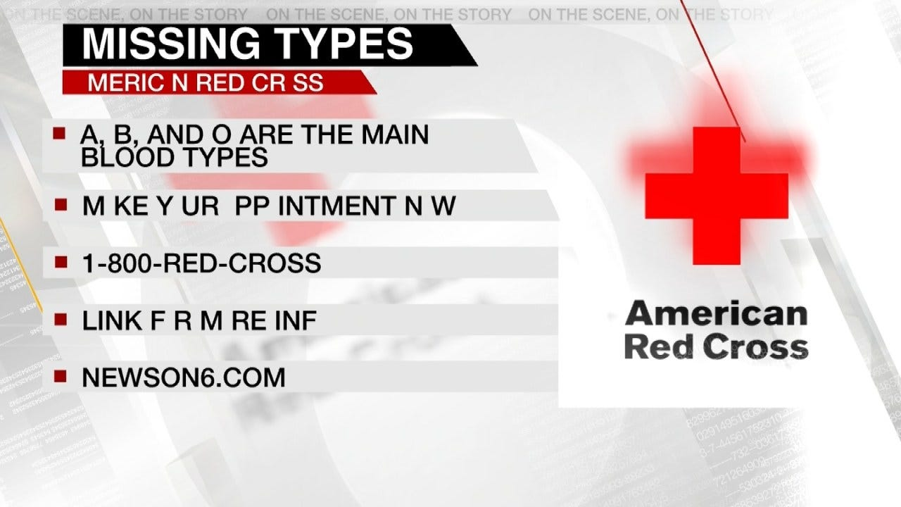 Red Cross Launches 'Missing Types' Blood Drive Campaign