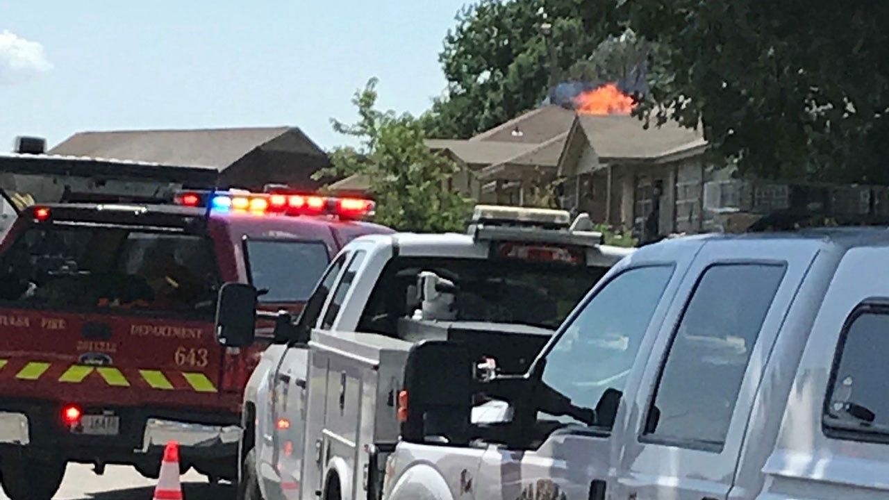 Tulsa Gas Line Fire Injures Firefighter, ONG Employees