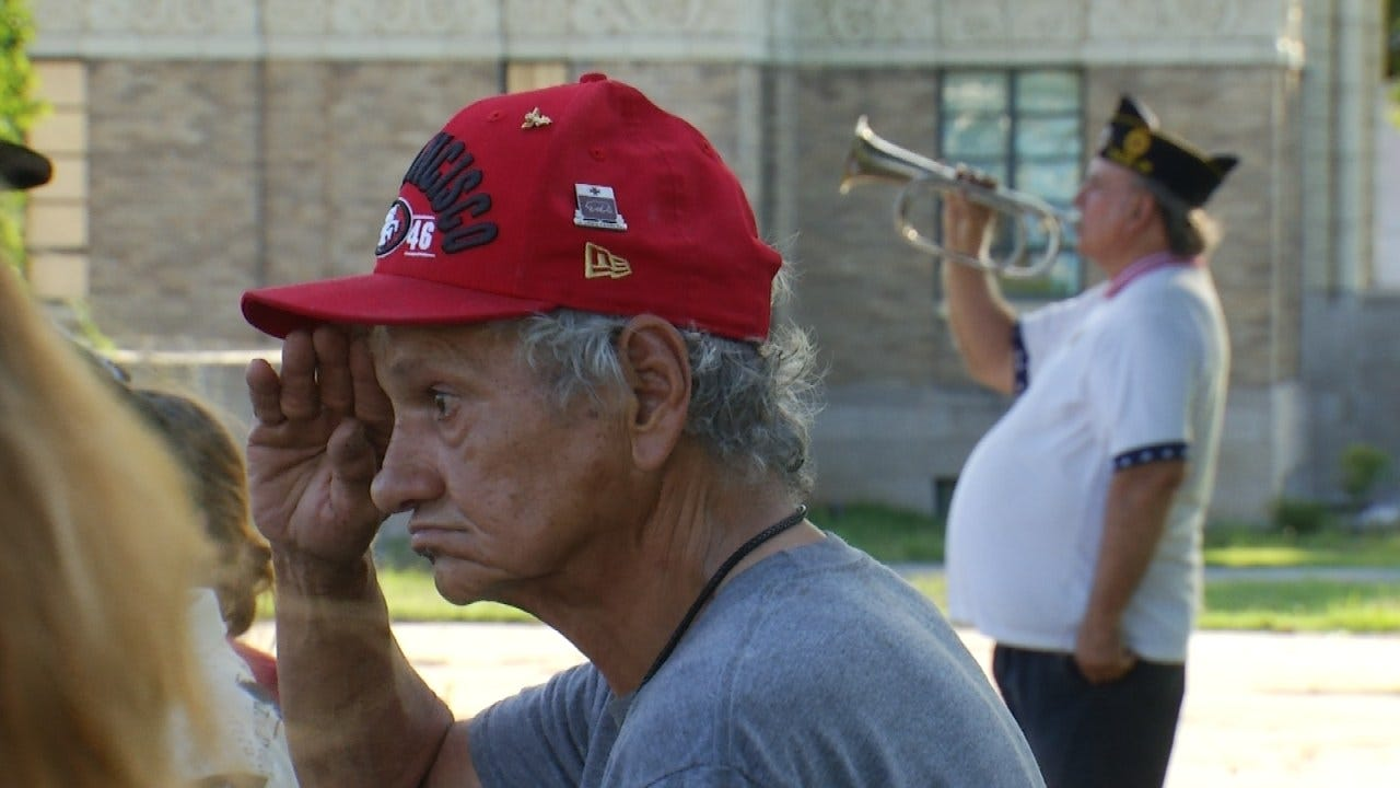 Tulsa American Legion Post Honors Flag With Retirement Ceremony
