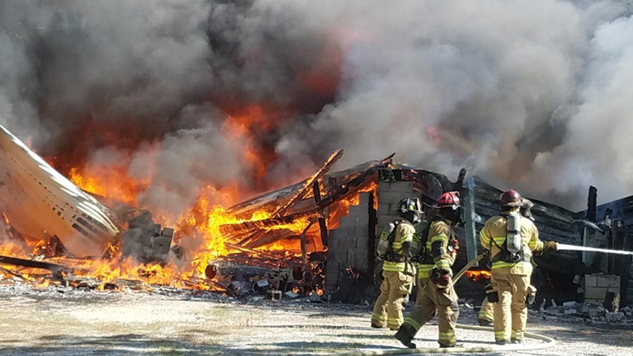 Fire Destroys Building In Berryhill