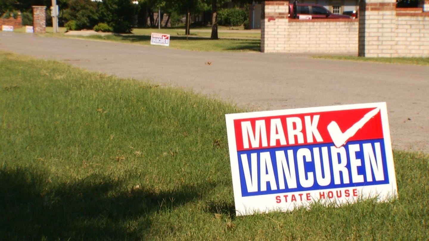 Campaign Signs For House Candidate Stolen