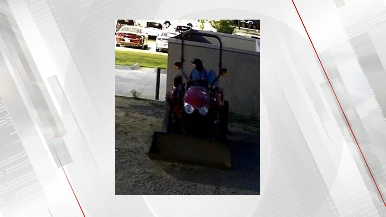 Owasso Police Looking For Tractor Thief
