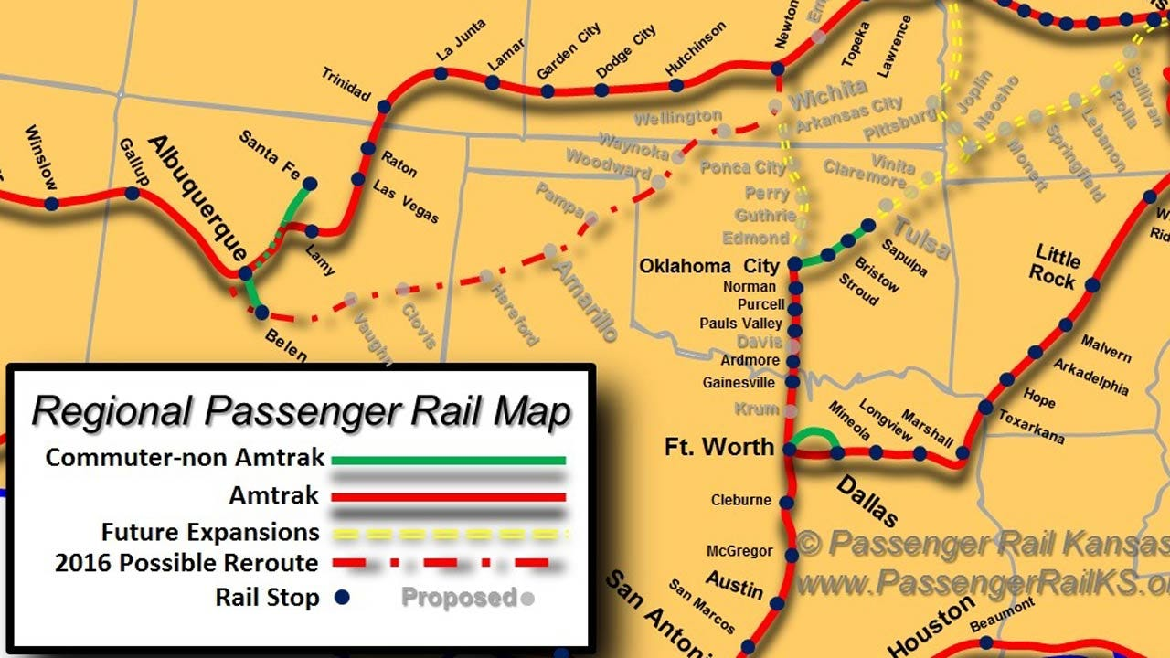 Kansas Rail Company Seeks Passenger Service Bids Between OKC, Tulsa