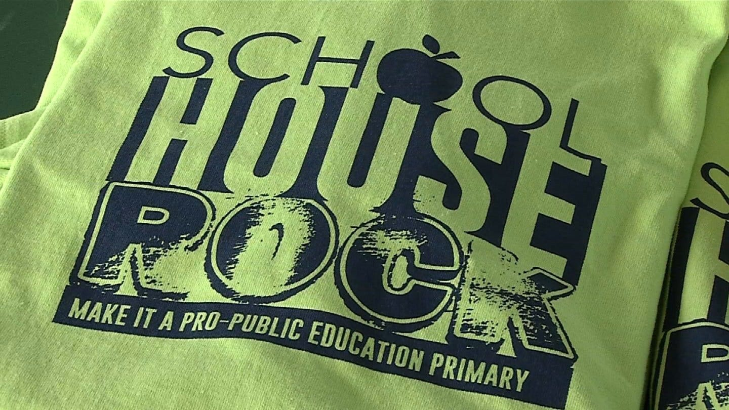 Rally For Public Education Funding Held In Tulsa